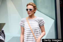 Shades Of Grey: Kylie Minogue's Casual Shopping Style