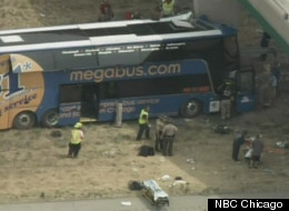 Megabus Crashes Into Bridge Illinois