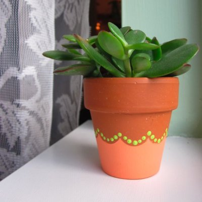 craftofthedayscallopedflowerpot