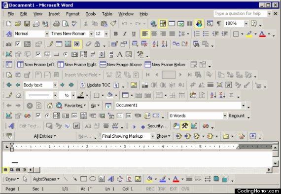 microsoft toolbar