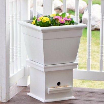 diy idea flower planter bird house