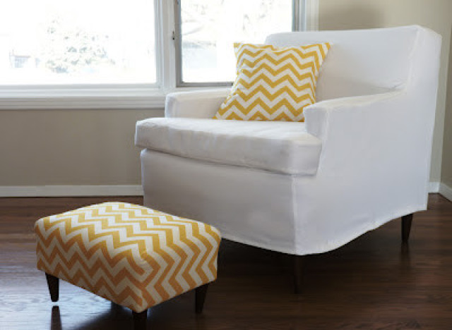 Diy Idea Make An Easy Tailored Slipcover For Any Piece Of Rhhuffingtonpost: Chair Covers For Living Room At Home Improvement Advice