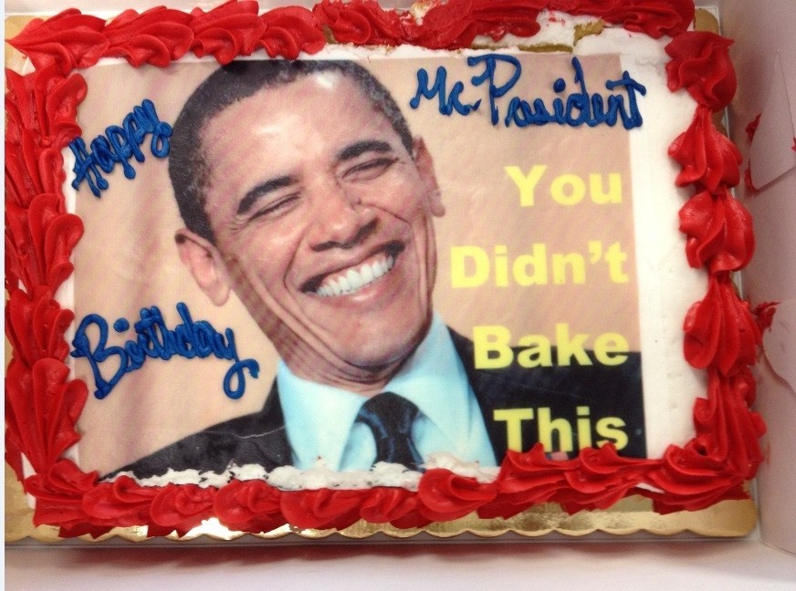 Astonishing Rnc Birthday Cake To Dnc Jabs Obama With You Didnt Bake This Funny Birthday Cards Online Inifodamsfinfo