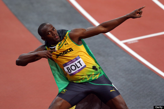 Usain Bolt Wins Gold In 100m Final At The London 2012 Olympics