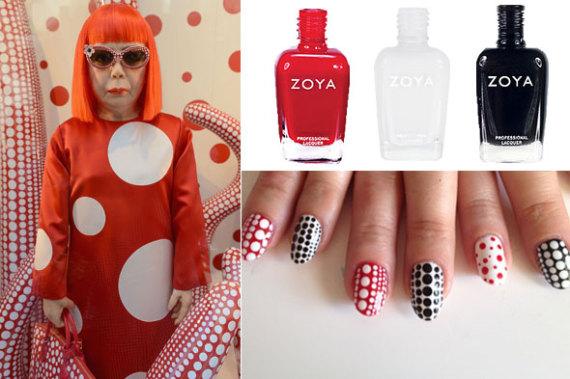 Diy Nail Art Yayoi Kusama For Louis Vuitton Inspired Manicure