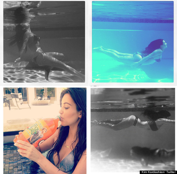 kim kardashian underwater bikini