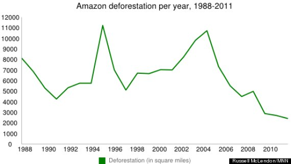 amazon deforestation chart