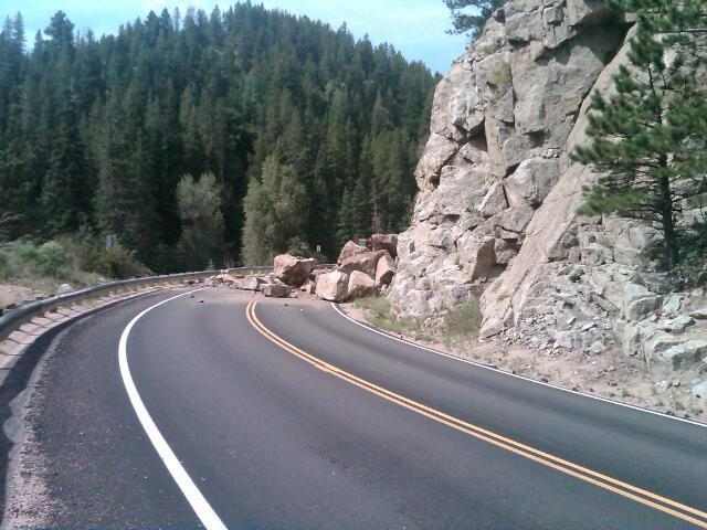 boulder canyon rock slide