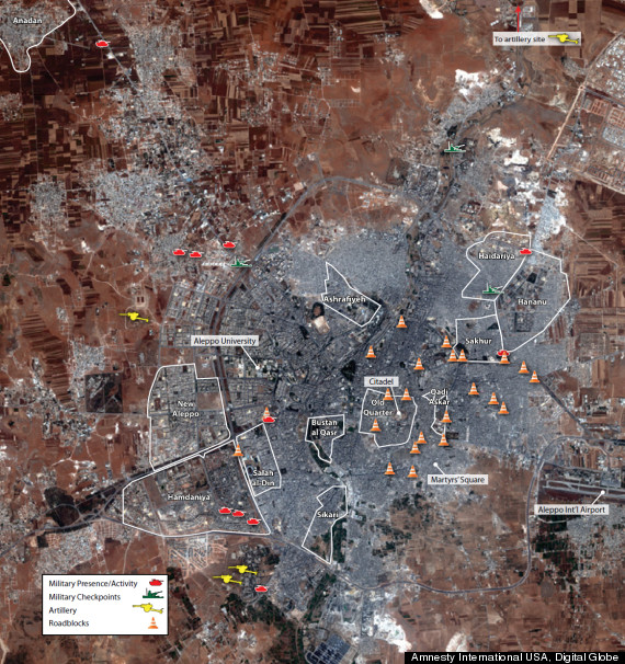 aleppo satellite images