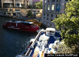 Tour Boat Crashes Into Dock Chicago
