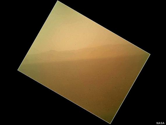 mars rover first color photo curiosity