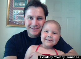 Yovany Gonzalez and his late daughter Mackenzie. Gonzalez