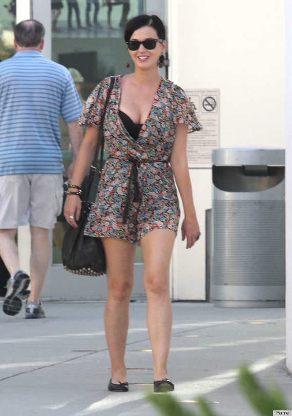 Katy Perry Flaunts Cleavage In Barely-There Playsuit -6969