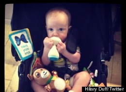 Luca Comrie Teething Hilary Duff
