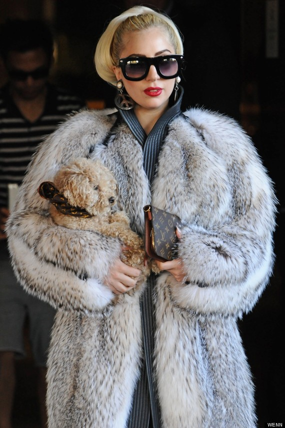 Lady Gaga Steps Out Wearing A Fur Coat But Keeps Fans ...