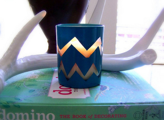 craft of the day chevron candle