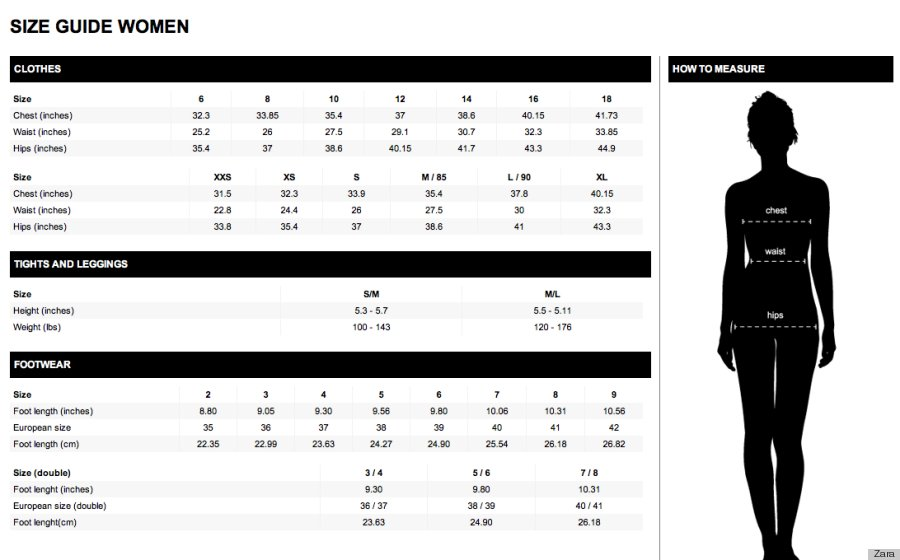 Pull And Bear Shoes Size Chart