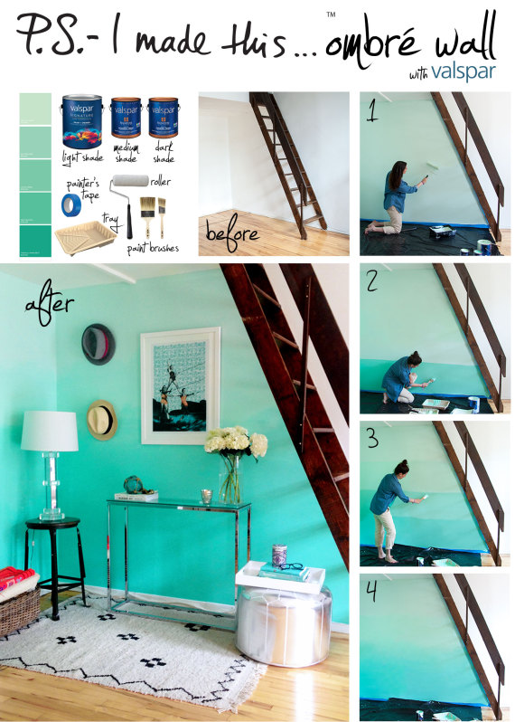 How to paint an ombre wall | Paint Inspiration | Valspar Paints ...