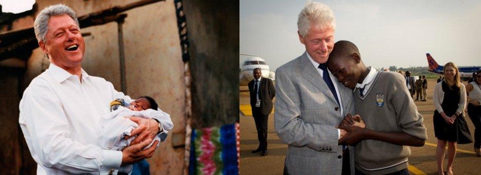 Bill Clinton Meets Bill Clinton Former President Has