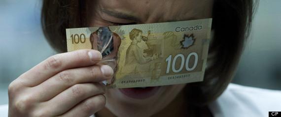 Canada Money Asian Woman