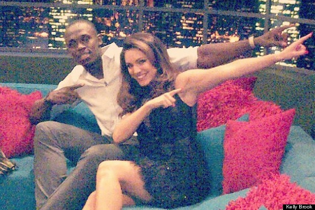kelly brook usain bolt