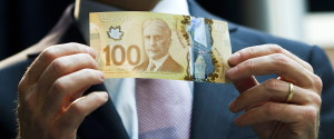 Canadian Money 100 Bill