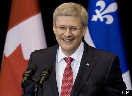 Harper's Got Good Reason To Smile