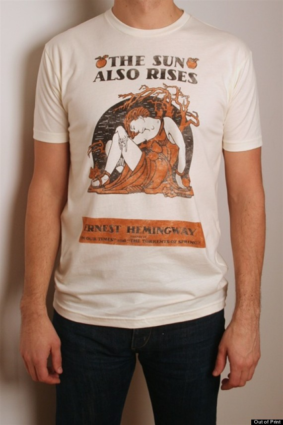the sun also rises book cover tshirt
