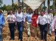 Rajoy visita el Rocío Chico en la localidad onubense de Almonte junto a la ministra Báñez