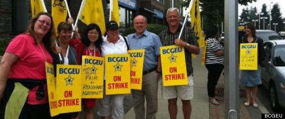 Bcgeu Strike Monday