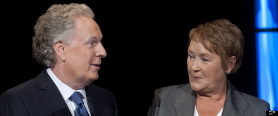 Quebec Debate Marois Charest
