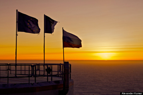 antarctica dawn break photo