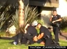 WATCH: LAPD Officers Straddle, Punch College Student