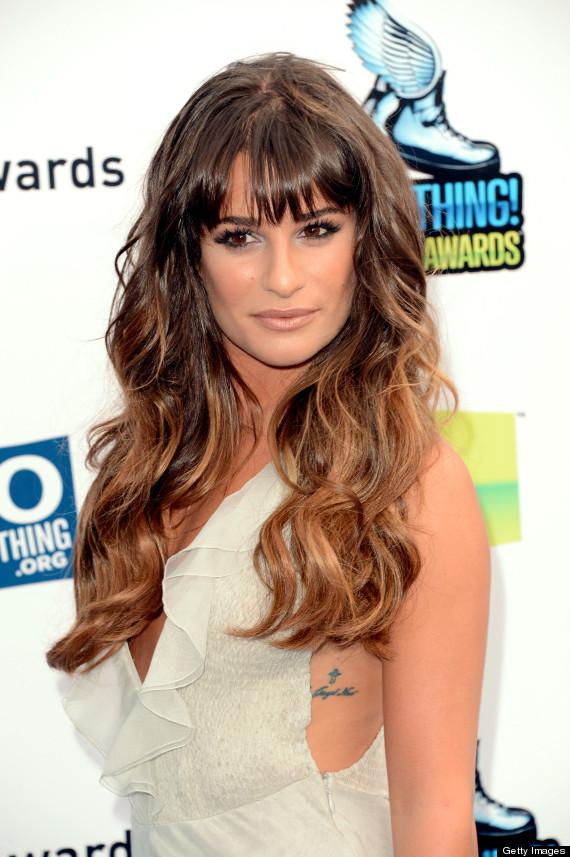 es que cabe mencionar que aunque los tiene bien ocultos, Lea Michele ...