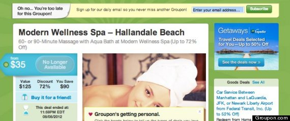MODERN WELLNESS SPA GROUPON