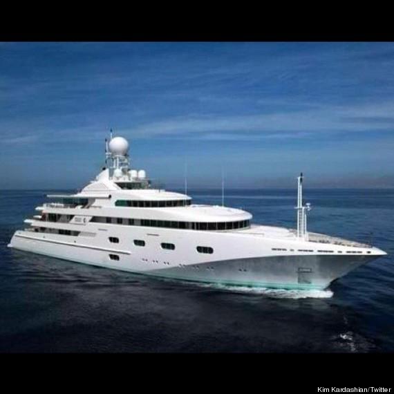 yacht life kimye