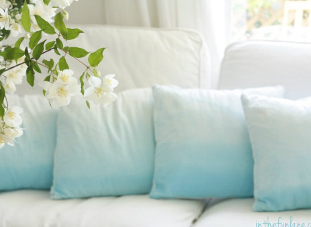 craft of the day ombre pillows