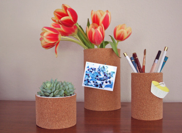 craft of the daycork vases