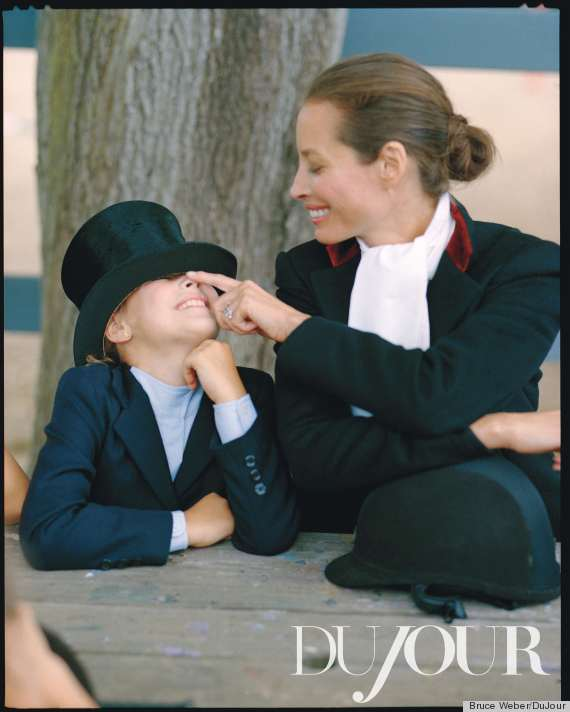 christy turlington u0026 39 s daughter models with her mom for