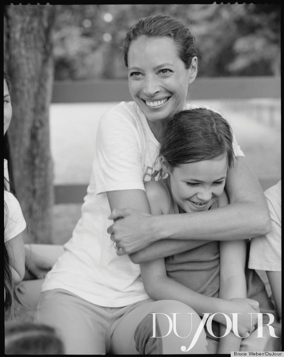 Christy Turlington's Daughter Models With Her Mom For DuJour Magazine