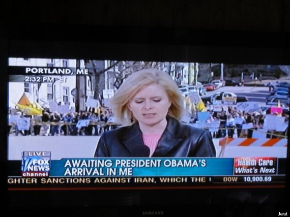 president obama arrival in me
