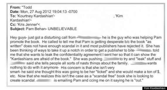 former kardashian nanny email