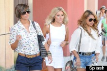 The Saturdays Hit Hollywood In Shorts And Stilettos