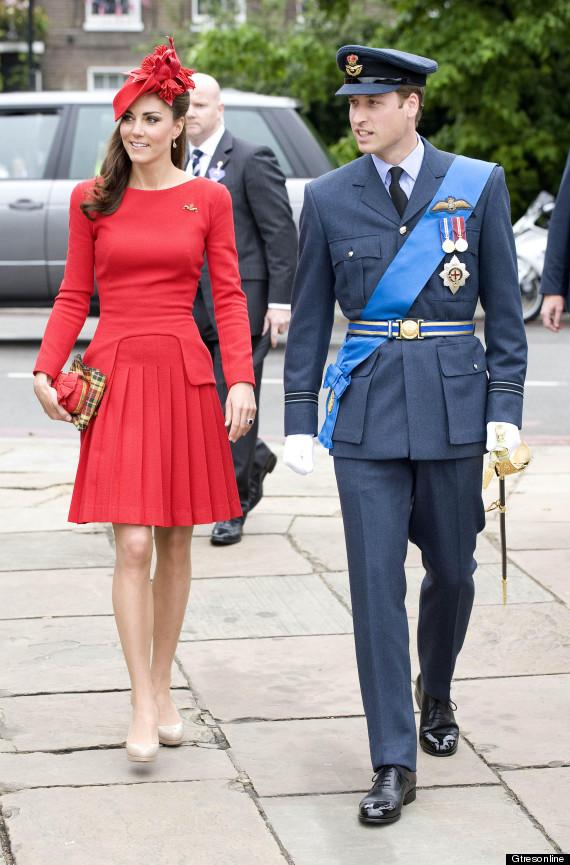 kate middleton vestido rojo jubileo