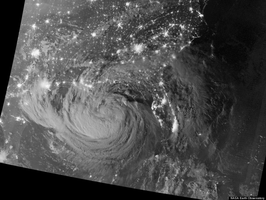 hurricane isaac at night