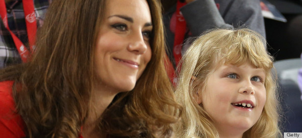 Lady Louise Windsor Sits Next To Kate Middleton Amp Prince