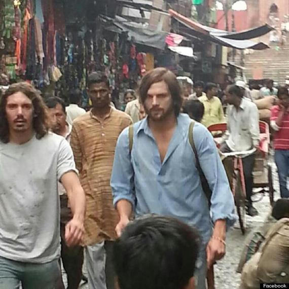 ashton kutcher steve jobs india photo
