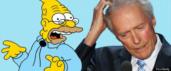 Grandpa Simpson Clint Eastwood