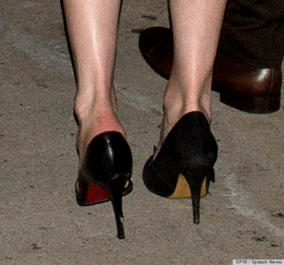 kirsten dunst different shoes