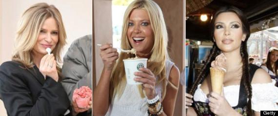 CELEBRITIES EATING ICE CREAMS
